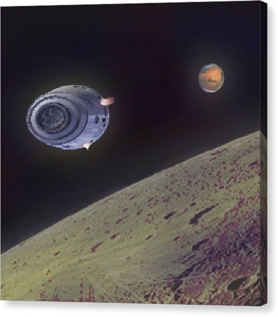 Science Fiction Canvas Print - Orbit by Andrew Morican