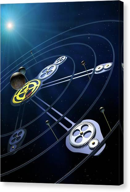 Pluto Canvas Print - Orbital Resonances In The Pluto System by Mark Garlick