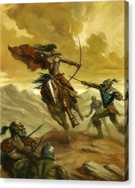 World Of Warcraft Canvas Print - Orc Ambush by Alan Lathwell