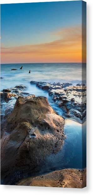 Orcas Canvas Print - Orcas Triptych 2 by Robert Bynum