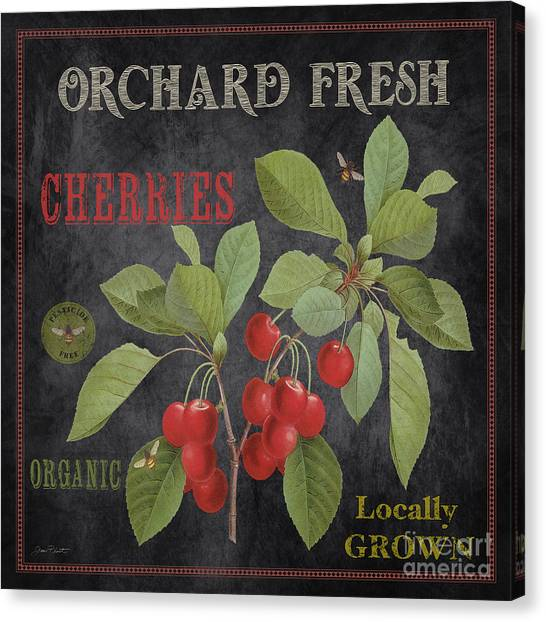 Locally Grown Canvas Print - Orchard Fresh Cherries-jp2639 by Jean Plout