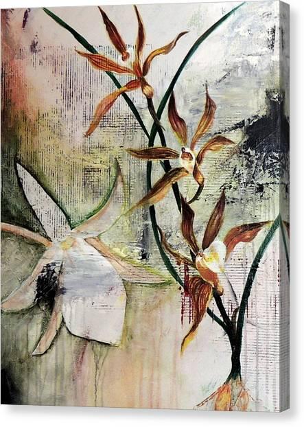 Orchid Fields - D2 Canvas Print by Vivian Mora
