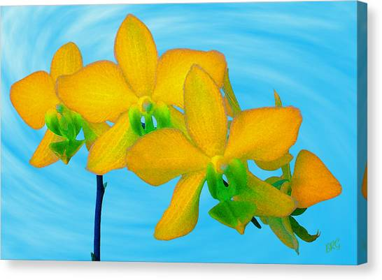 Orchid In Yellow Canvas Print