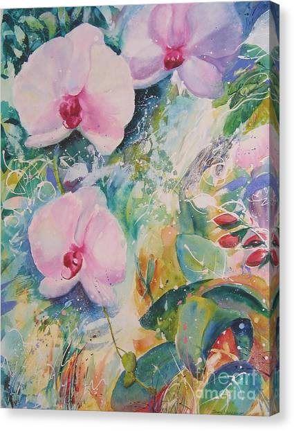 Orchid Spray Canvas Print