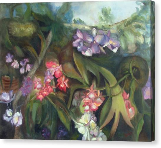 Orchids I Canvas Print by Susan Hanlon