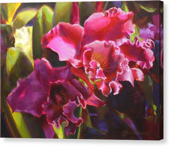Orchids In Magenta Canvas Print