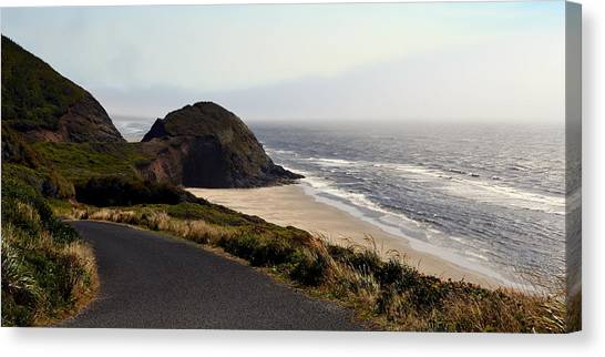 Oregon Coast And Fog Canvas Print