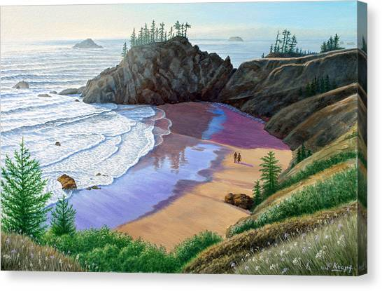 Oregon Canvas Print - Oregon Coast-little Cove by Paul Krapf