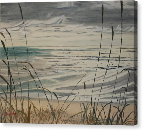 Oregon Coast With Sea Grass Canvas Print