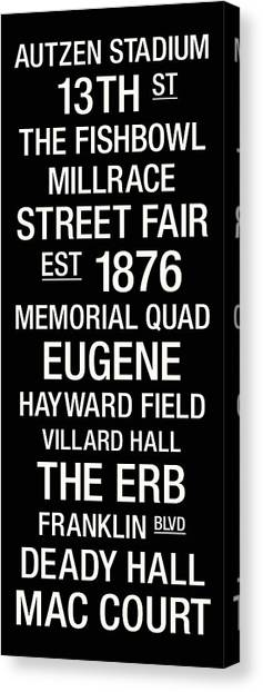 1876 Canvas Print - Oregon College Town Wall Art by Replay Photos