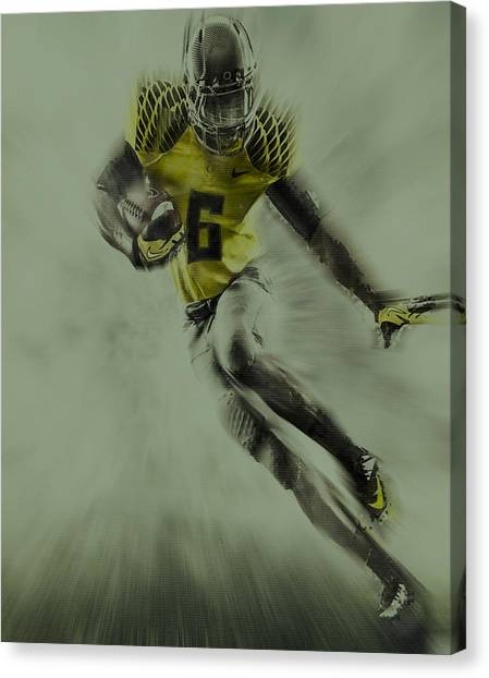 Pacific Division Canvas Print - Oregon Ducks Football by Brian Reaves