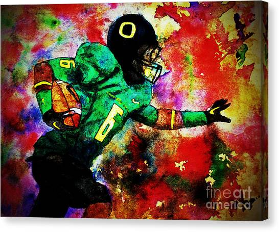 Oregon Football 3 Canvas Print