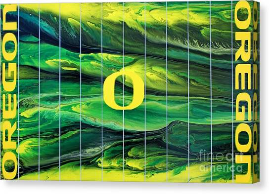 Oregon Football Canvas Print