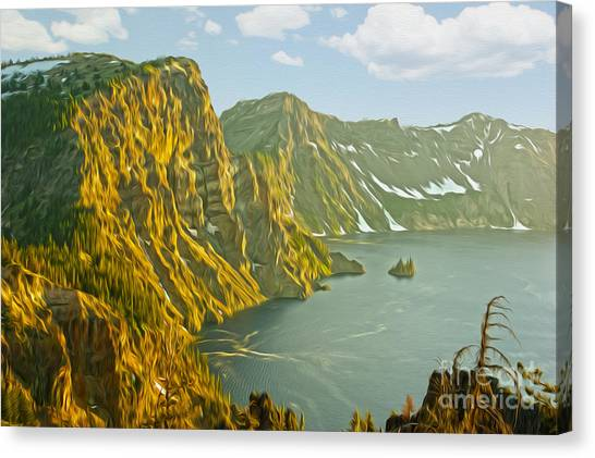 Oregon Lake Time Canvas Print by Nur Roy