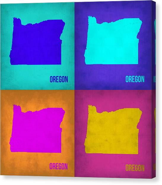 Oregon Canvas Print - Oregon Pop Art Map 1 by Naxart Studio