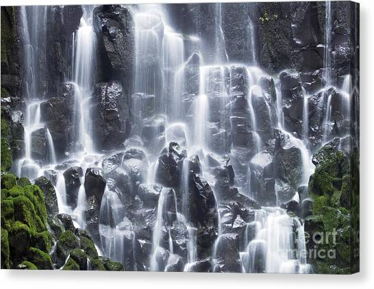 Waterfalls Canvas Print - Oregon Ramona Falls by King Wu
