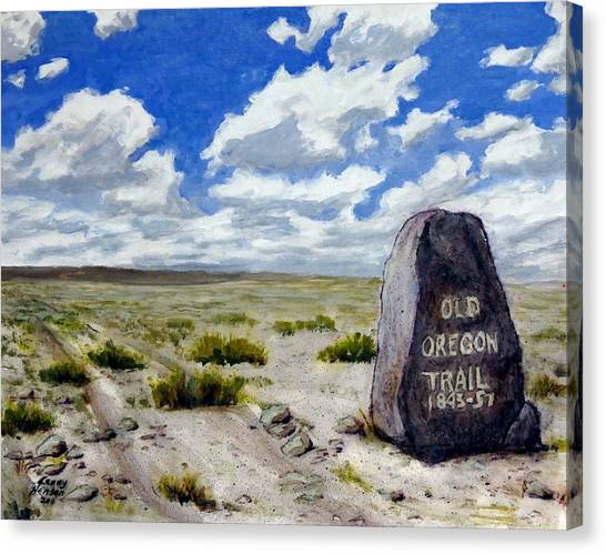 Pioneers Canvas Print - Oregon Trail by Kenny Henson