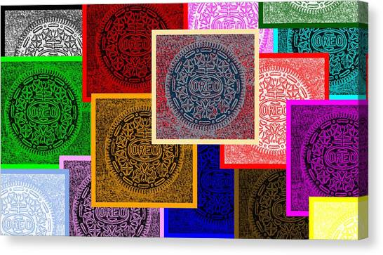 Nabisco Canvas Print - Oreo Collage Colors by Rob Hans