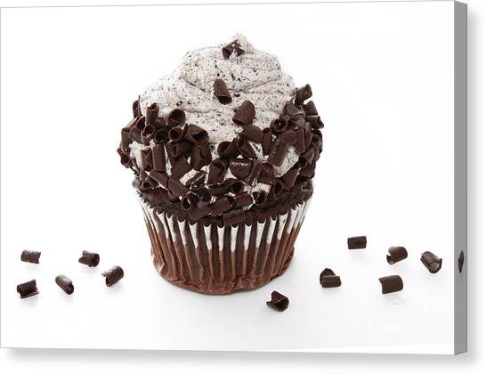 Oreo Cookie Cupcake Canvas Print