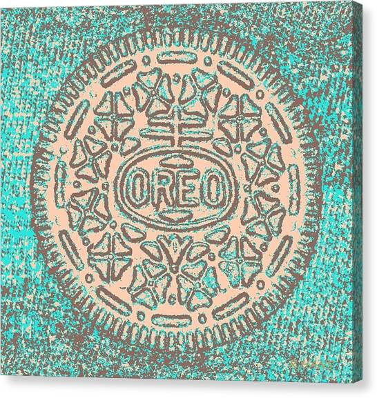 Nabisco Canvas Print - Oreo In Negative Hope 14 by Rob Hans