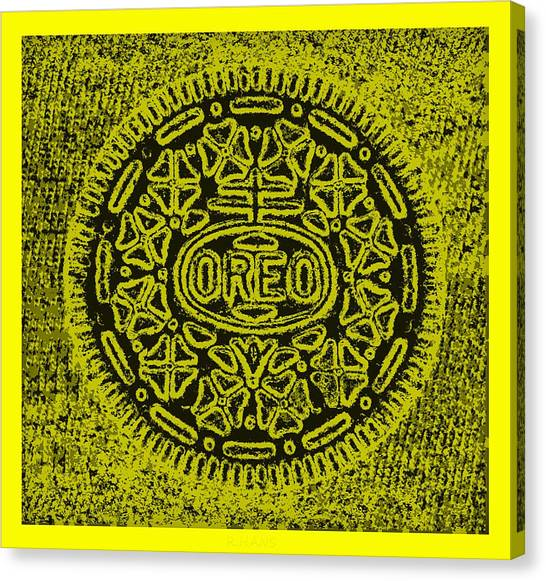 Nabisco Canvas Print - Oreo Hope Yellow by Rob Hans