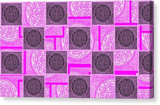 Nabisco Canvas Print - Oreo Pink Checker Board For The Cure by Rob Hans