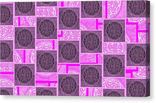 Nabisco Canvas Print - Oreo Pink Squares For The Cure by Rob Hans