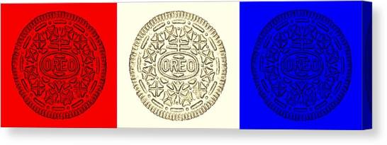 Nabisco Canvas Print - Oreo Smooth American Colors by Rob Hans