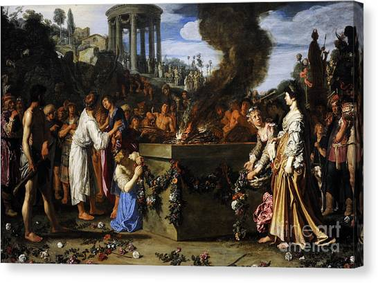 Rijksmuseum Canvas Print - Orestes And Pylades Disputing At The Altar, 1614, By Pieter Lastman C.1583-1633 by Bridgeman Images