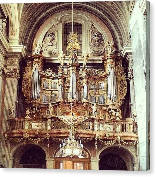 Baroque Art Canvas Print - Organ At The Baroque Church Of St by Ivan Bortot