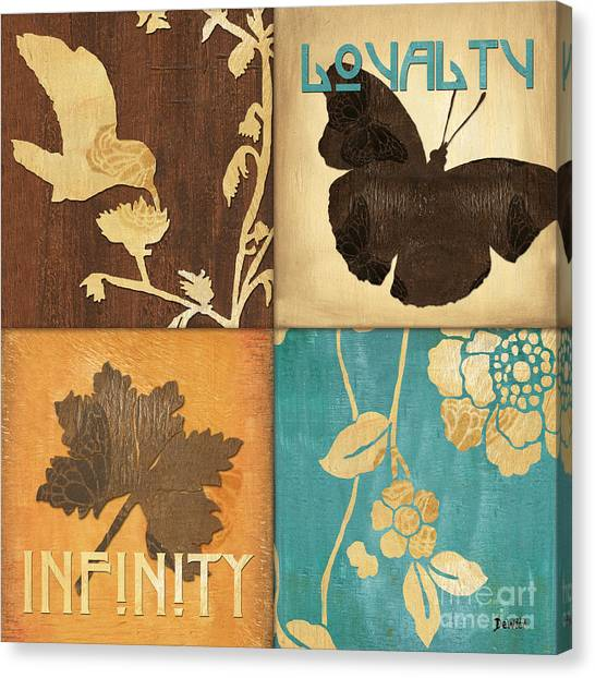 Hummingbirds Canvas Print - Organic Nature 3 by Debbie DeWitt