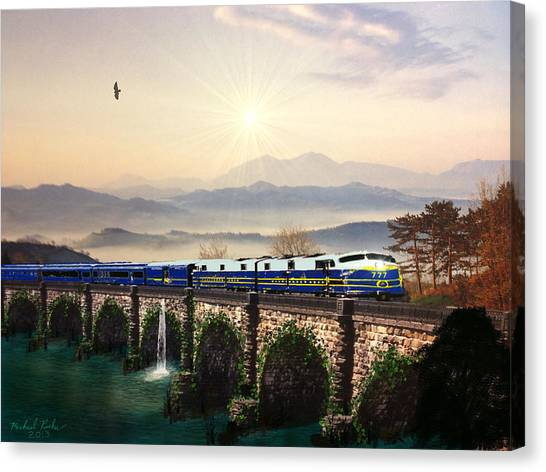 Orient Express Canvas Print by Michael Rucker