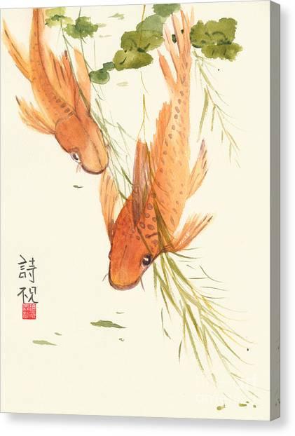 Koi Canvas Print - Oriental Koi II by Sandy Linden