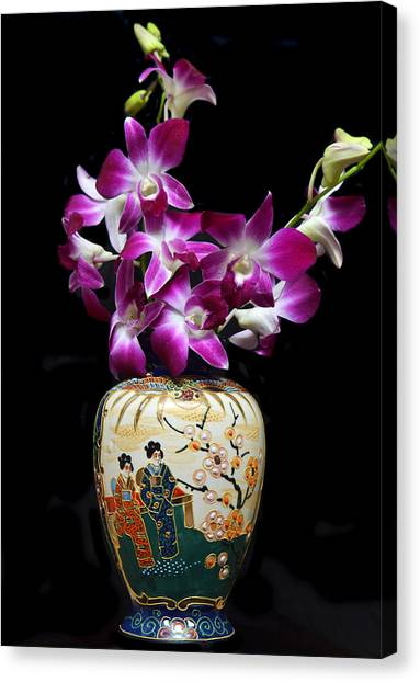 Oriental Orchids. Canvas Print