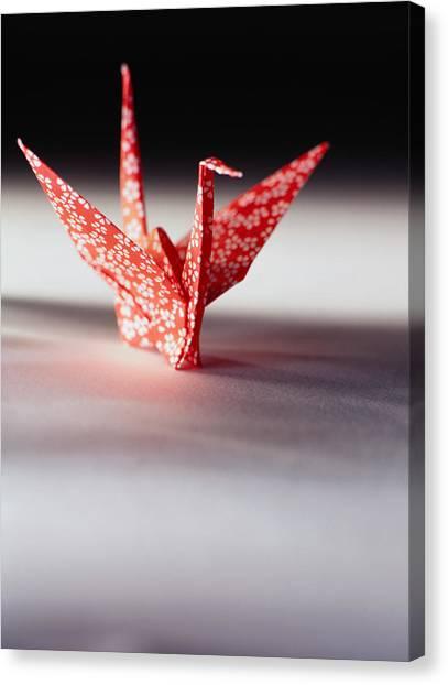 Origami Crane Canvas Print by Ryan McVay