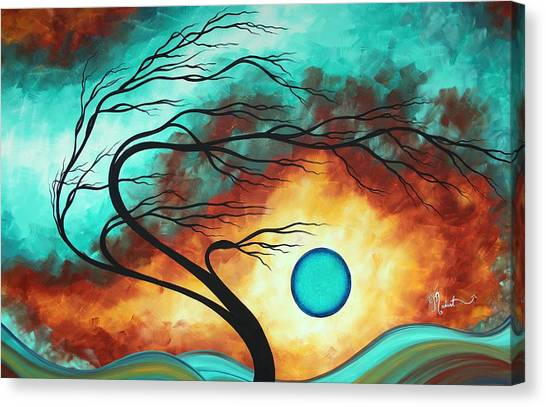 Canvas Print - Original Bold Colorful Abstract Landscape Painting Family Joy I By Madart by Megan Duncanson