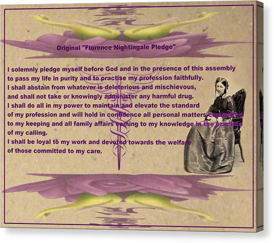 Original Florence Nightingale Pledge Poster Canvas Print