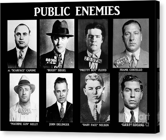 Boy Canvas Print - Original Gangsters - Public Enemies by Paul Ward