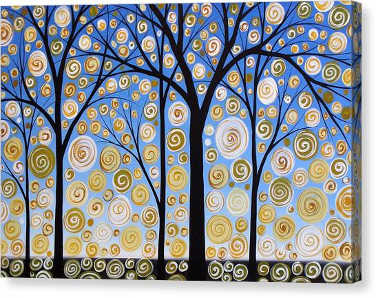 Original Landscape Tree Art Painting .. Sky Magic Canvas Print by Amy Giacomelli