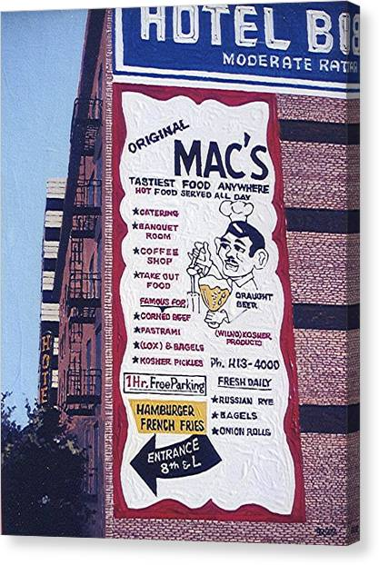 Original Mac's Canvas Print by Paul Guyer