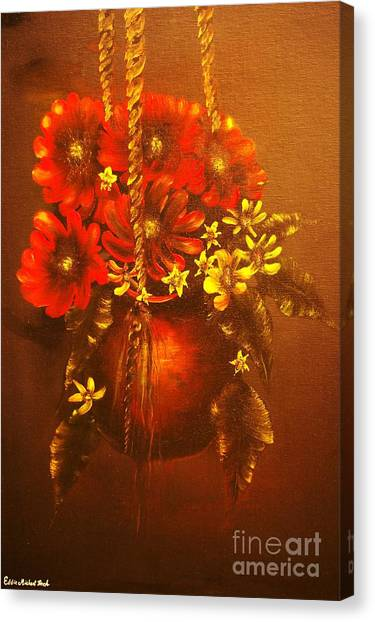 Hanging Flower Pot-original Sold-buy Giclee Print Nr 24 Of Limited Edition Of 40 Prints   Canvas Print