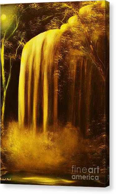 Moon Shadow Waterfalls- Original Sold - Buy Giclee Print Nr 30 Of Limited Edition Of 40 Prints    Canvas Print
