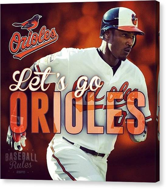 Orioles Canvas Print - #orioles #openingday #espn by Mims Katy