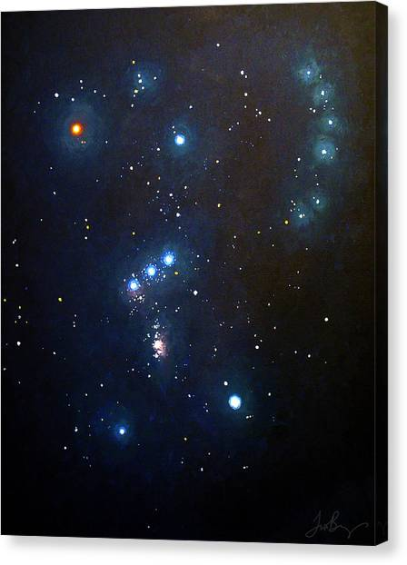 Sun Belt Canvas Print - Orion The Hunter by Timothy Benz