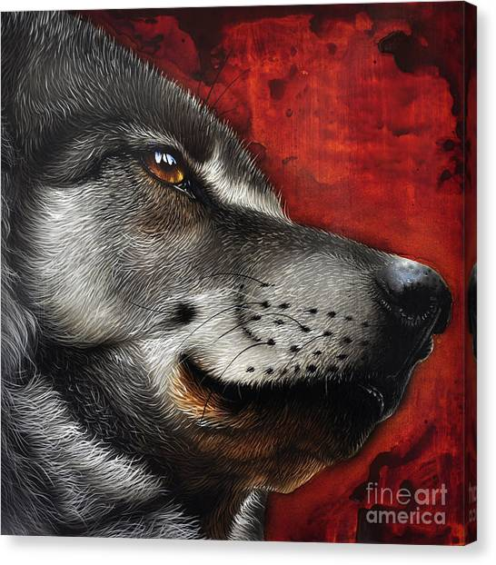 Animal Portraiture Canvas Print - Orion Wolf by Jurek Zamoyski