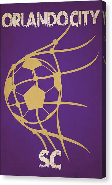 Orlando City Sc Canvas Print - Orlando City Sc Goal by Joe Hamilton