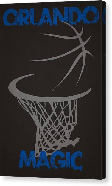 Orlando Magic Canvas Print - Orlando Magic Hoop by Joe Hamilton