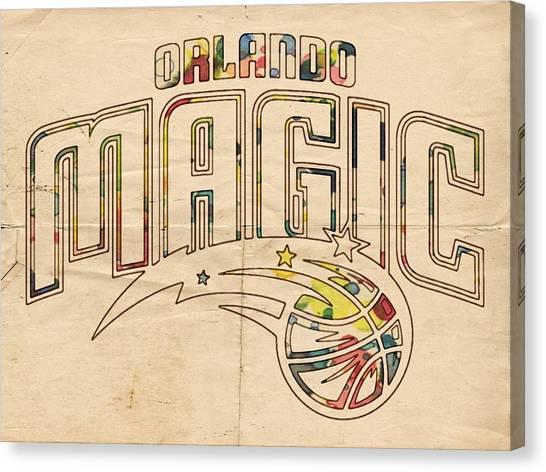 Orlando Magic Canvas Print - Orlando Magic Retro Poster by Florian Rodarte