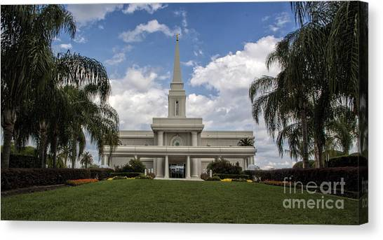 Orlando Temple Canvas Print
