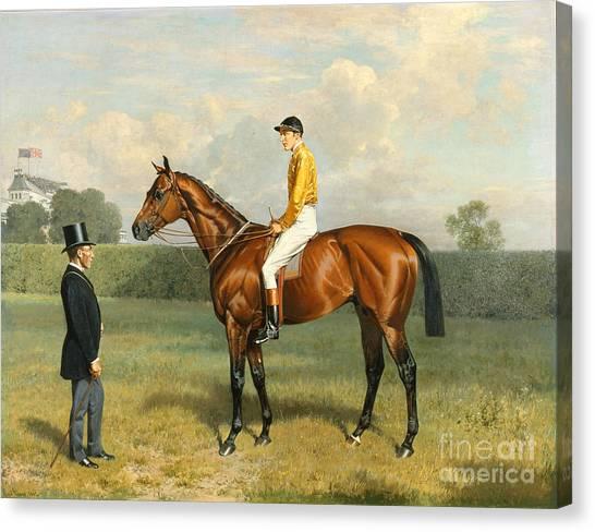 Race Horses Canvas Print - Ormonde Winner Of The 1886 Derby by Emil Adam